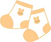かわいい赤ちゃんの靴下